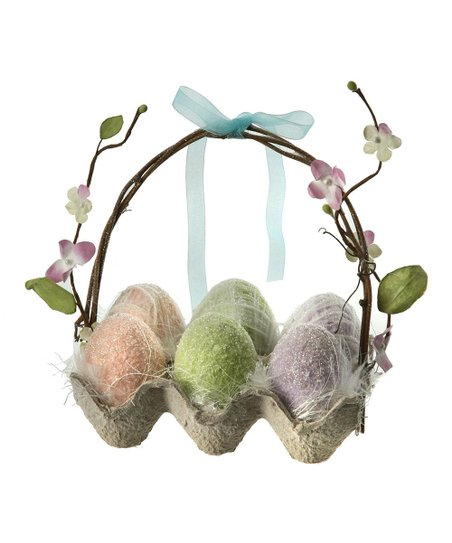 Sugared Easter Egg Crate Basket
