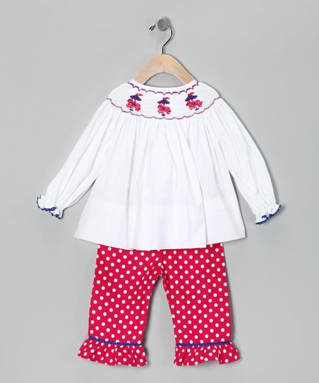 Smocked Gems Pink Carousel Top & Pants - Infant, Toddler & Girls