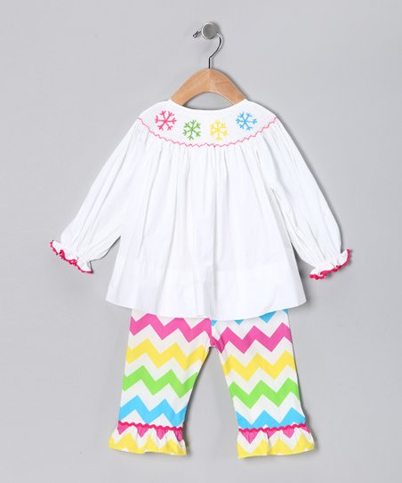 Smocked Gems Snowflake Top & Pants - Infant, Toddler & Girls