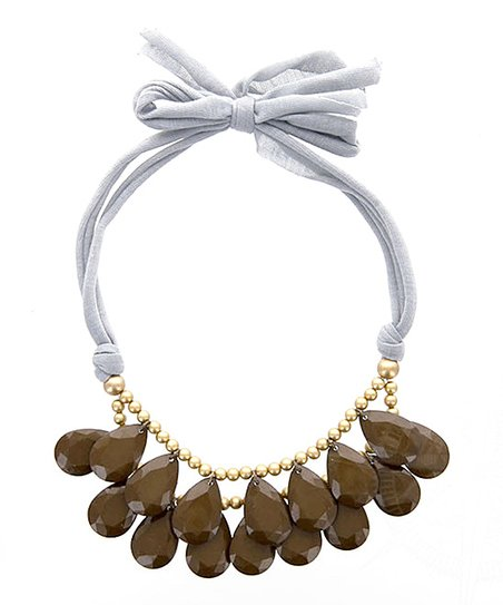 Carafe Brown & Gold Double Delight Bib Necklace