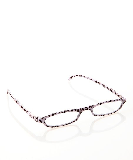 White & Brown Floral Slim Readers
