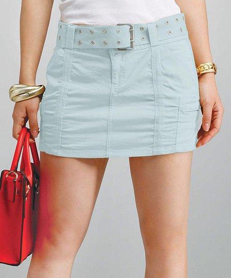 Mint Pocket Belted Skirt