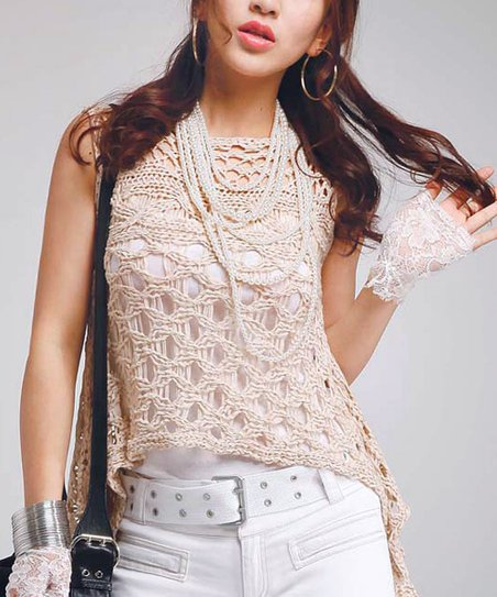 Nude Lace Sidetail Tank