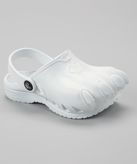 White Classic Clawz Water Shoe - Kids
