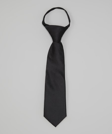 Black Tone-on-Tone Tie