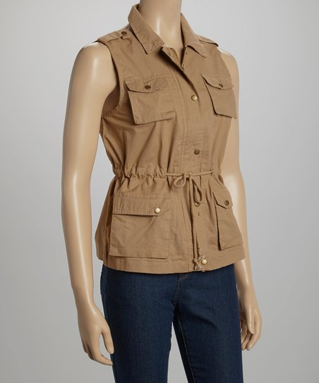 Tan Off-Road Button-Up Vest