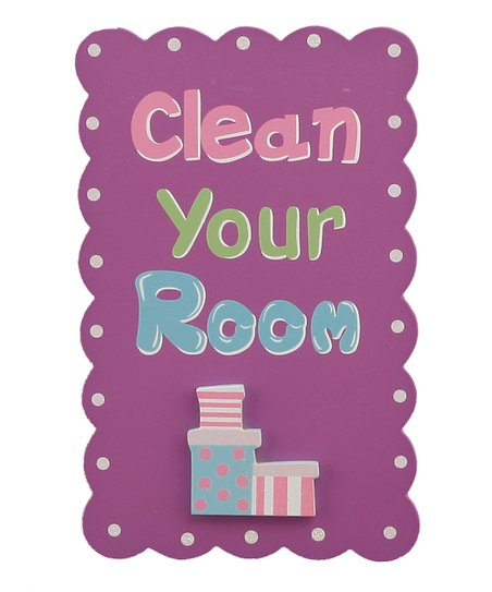 Purple Words Wall Plaque
