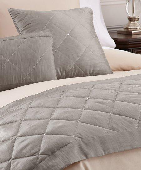 Platinum Swarovski Crystal Bed Scarf Set