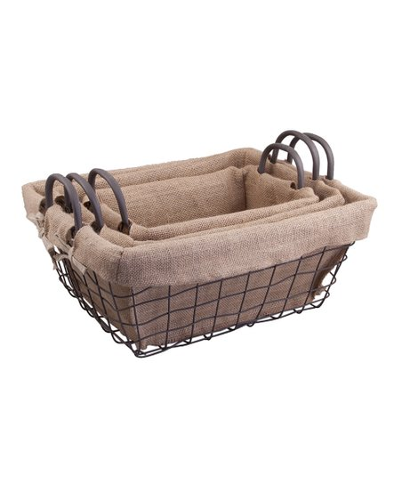 Farm House Lined Basket Set