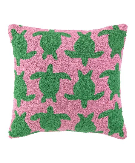 Turtle Stampede Throw Pillow