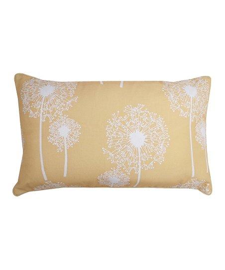 Samoan Sun Dandelion Glimmer Rectangle Throw Pillow