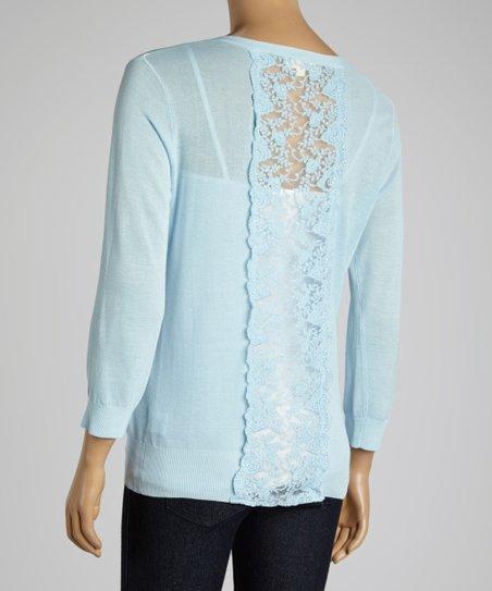 Light Blue Lace Cardigan