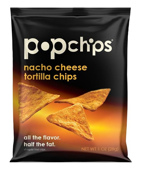 Nacho Cheese Tortilla Popchips Snack - Set of 24