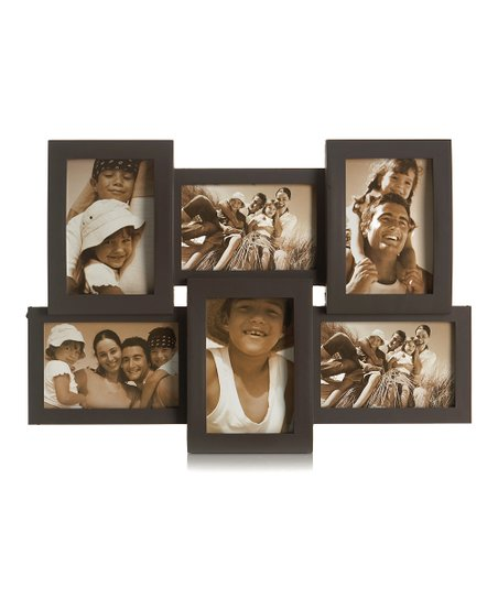 MELANNCO 6Opening Window Pane Wall Mount Collage Picture