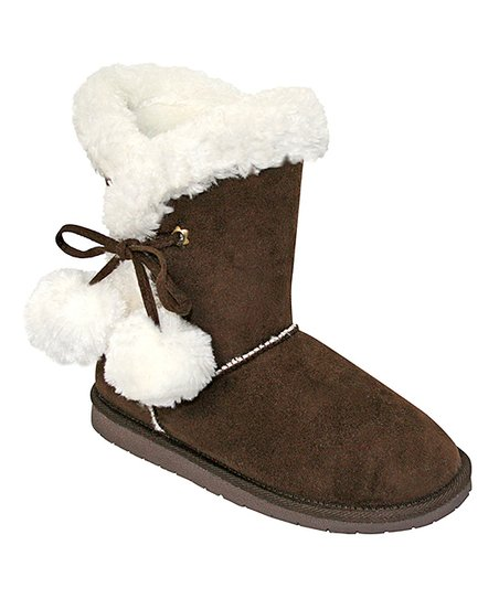 Chocolate Pom-Pom Boot