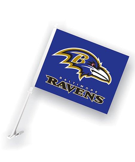 Baltimore Ravens Car Flag & Wall Bracket