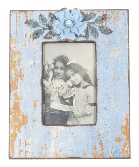 Blue Vintage Flower Picture Frame