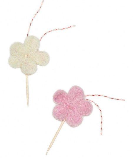 Flower Cupcake Topper Set