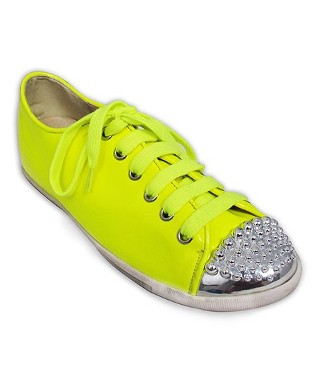 Yellow & Silver Youth Sneaker