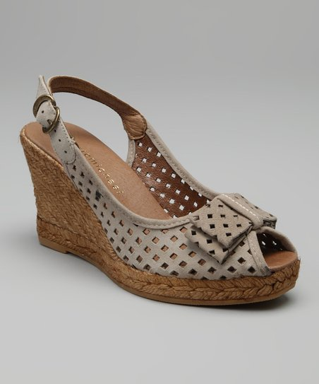 Beige Ashley Sling-Back Espadrille