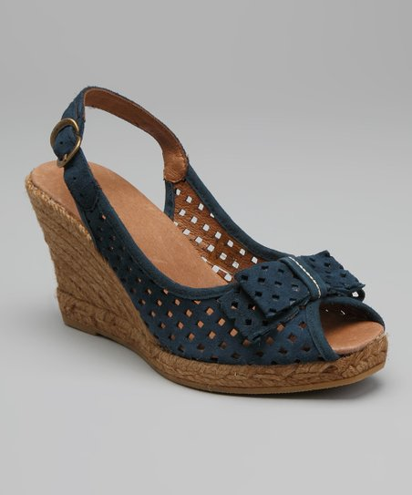 Blue Ashley Sling-Back Espadrille