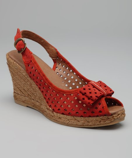 Salmon Ashley Sling-Back Espadrille