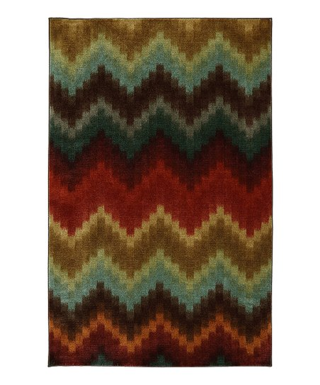 Painted Zigzag Rug