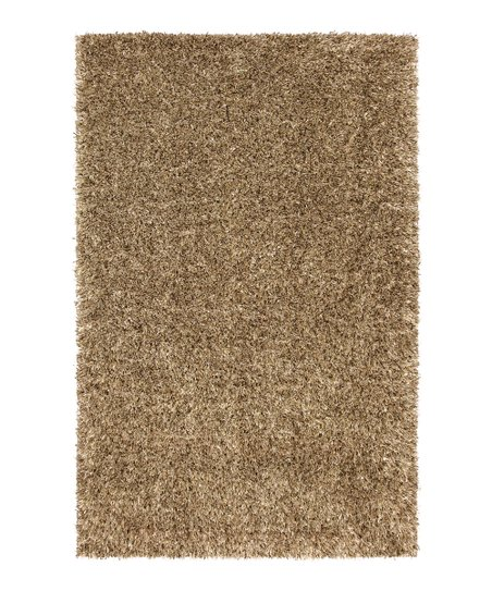 Gold Metal Flake Shag Rug