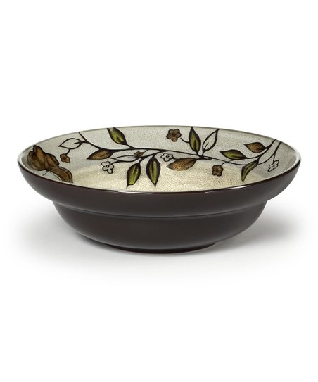 Rustic Leaves Butterfly 9.5'' Vegetable Bowl