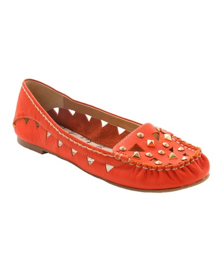 Kensie Burnt Orange Leather Romeo Flat