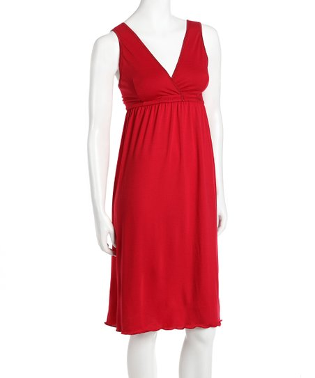 Amamante Red Signature Nursing Gown