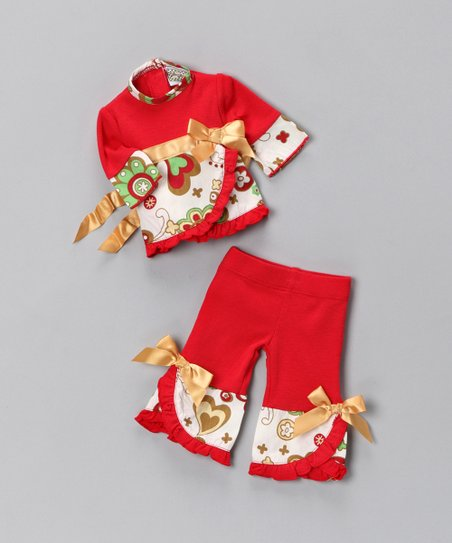 Red Holiday Doll Outfit