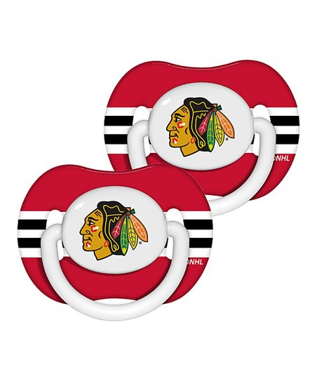 Chicago Blackhawks Pacifier - Set of Two