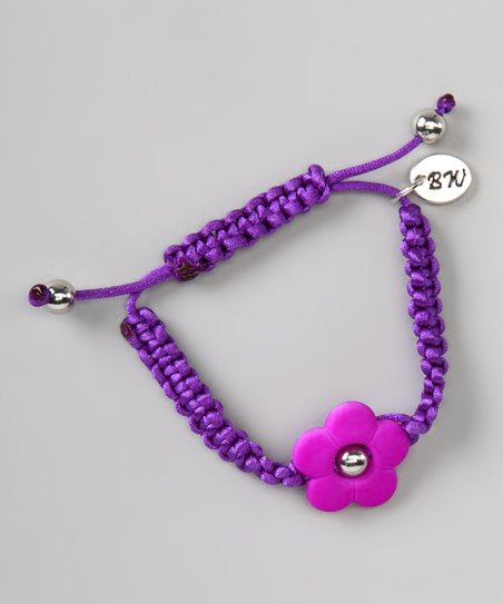 Purple Flower Love Couture Baby Bracelet