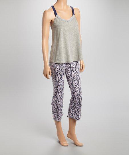 Gray Lace Pajama Set