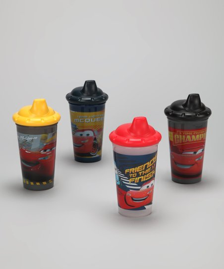 Yellow &amp; Black Cars Sippy Cup Set