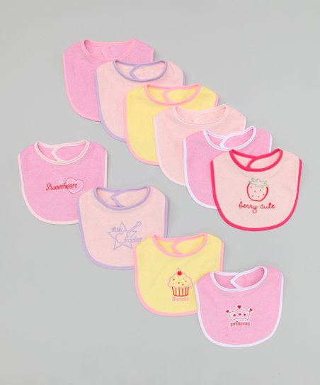 Pink Bib Set