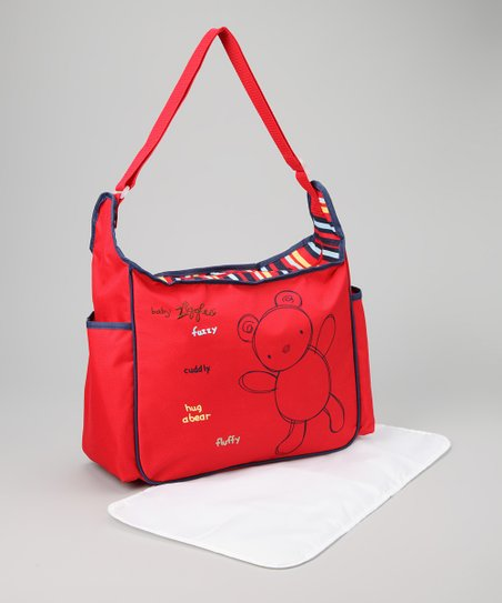 Red Diaper Bag