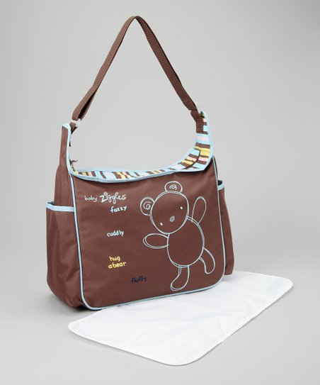 Blue & Brown Diaper Bag