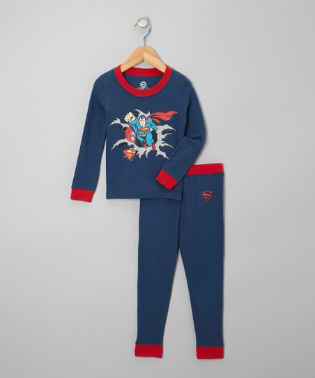 Denim Superman Pajama Set - Infant & Toddler