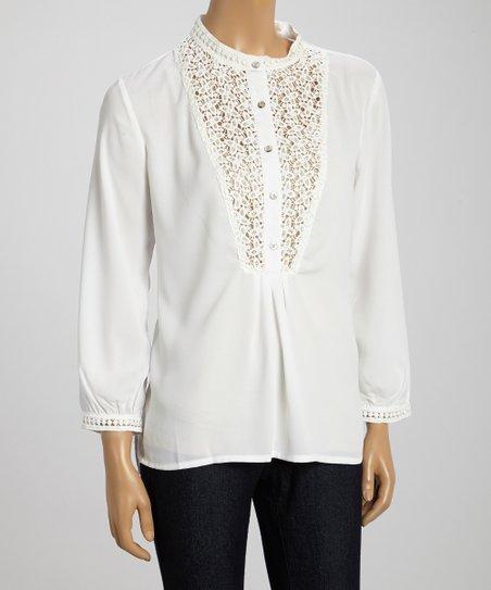 White Lace-Bib Top