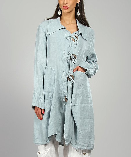 Sky Sharon Linen Coat