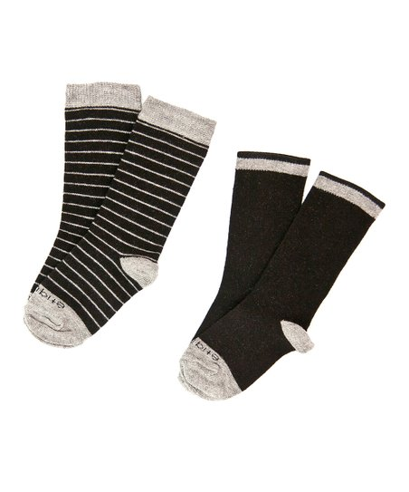 Tux Black Needle Stripe Socks Set