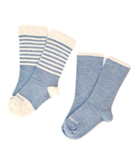 Sky Blue Preppy Stripe Socks Set