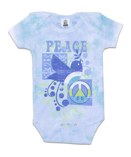 Aqua 'Peace' Bodysuit - Infant