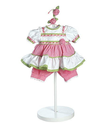 Polka Dot Rose Doll Outfit