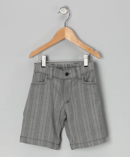 Black & Gray Stripe Shorts - Infant, Toddler & Boys