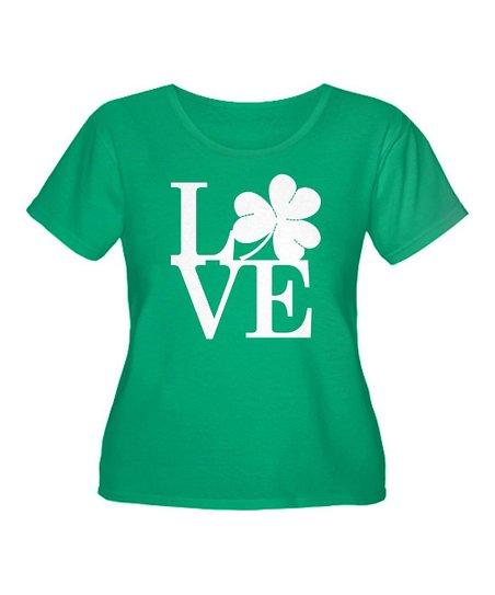 Green Lucky Love Tee - Plus