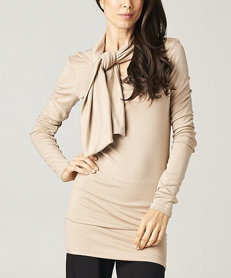 Powder Long-Sleeve Tunic & Scarf