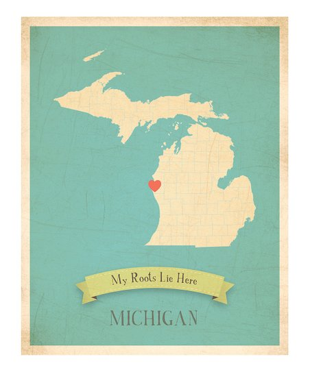 Michigan Customizable Wall Art